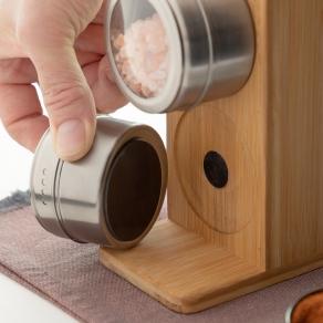 Set doza za začine i kuhinjskog pribora s držačem, bambus
