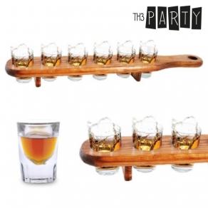 Th3 Party - Čašice za žestoko piće + drveni stalak