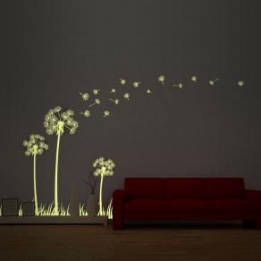 Svjetleća dekorativna naljepnica - maslačci