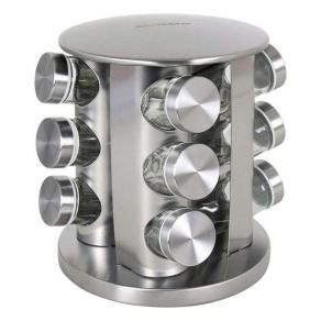 Stalak za začine s dozama metalni okrugli