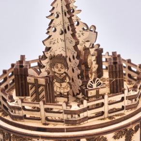 Wood Trick drvena maketa – božićna glazbena kutijica