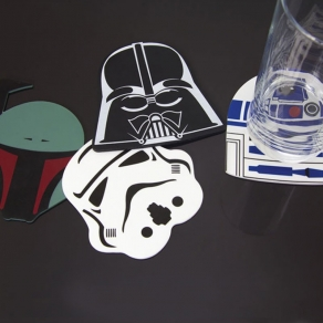 Star Wars – silikonski podmetači za čaše, 4 kom