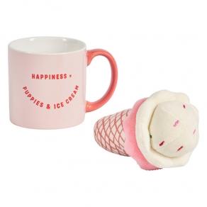 W&W - Poklon set šalica i igračka za psa sladoled