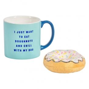 W&W - Poklon set šalica i igračka za psa donut
