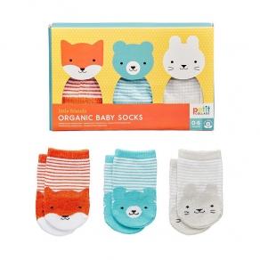 Petit Collage - Organske čarape za bebe, 0-6 mjeseci