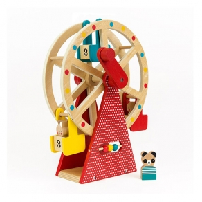 Petit Collage - Drvena igračka Ferris Wheel