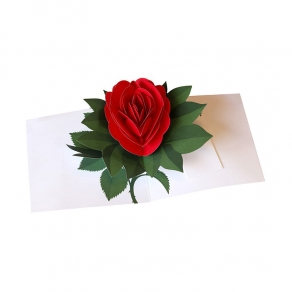 3D Čestitka - Ruža
