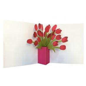 3D čestitka - Tulipani