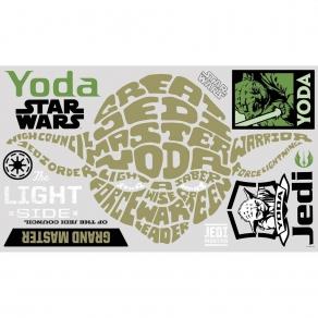 Star Wars - set naljepnica Yoda, 12 kom