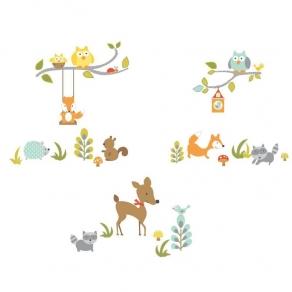 Dekorativna naljepnica - šumske životinje