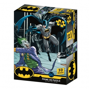 DC - puzzle 3D efekt Batman VS Joker, 300 kom