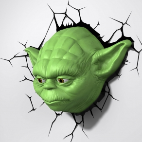 Star Wars - zidna svjetiljka 3D Yoda
