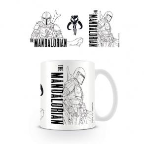 Star Wars - šalica The Mandalorian crtež