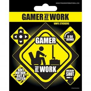 Gamer at Work - set naljepnica, 5 kom